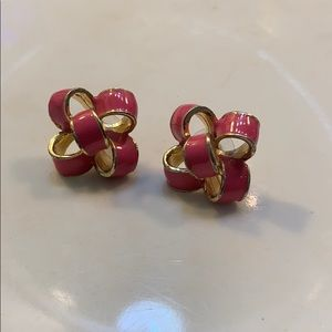 Pink Lilly Pulitzer Bow Earrings